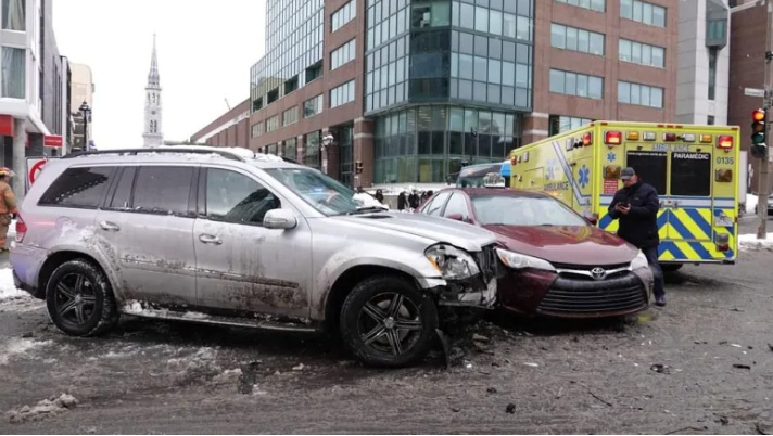 man uses SUV to protect people from drunk driver