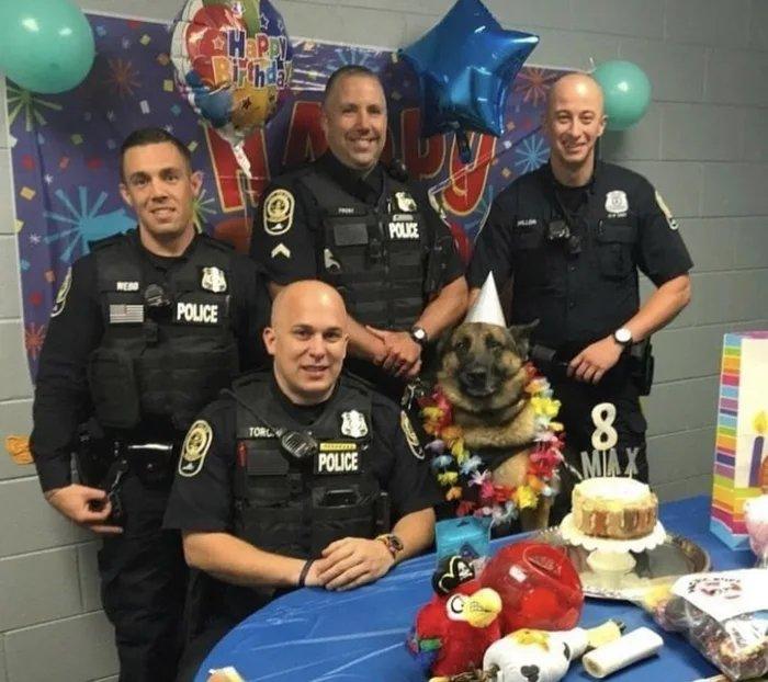 police dog birthday