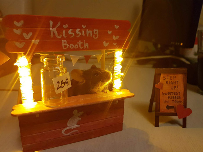 mouse kissing booth