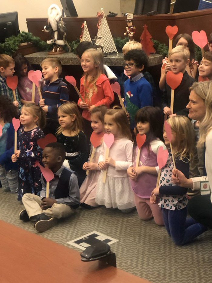 kid brings entire class to adoption hearing