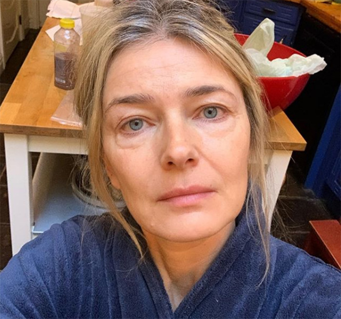 make up free selfie Paulina Porizkova