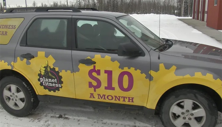 planet fitness kindness car
