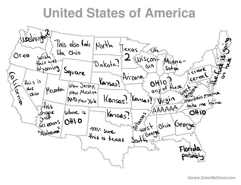 man in Germany tries to label 50 states