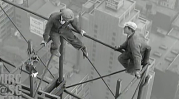 1929 Footage Of Men With No Safety Gear Working On The Chrysler Building