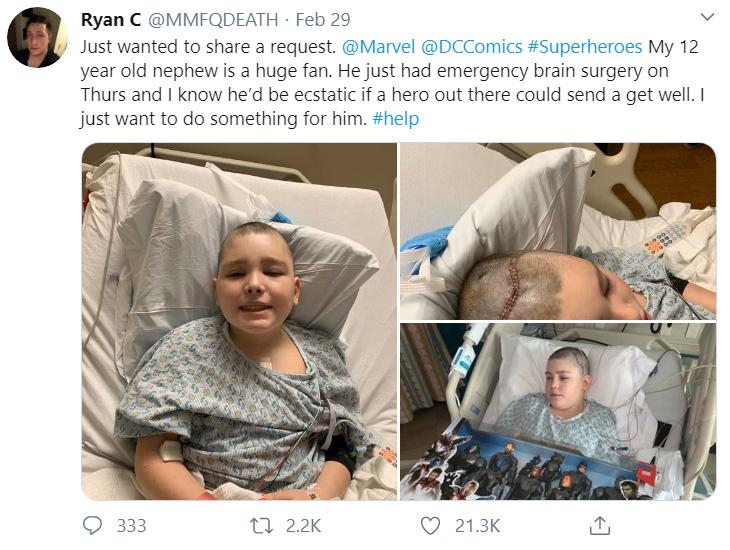 batman artist brain surgery kid