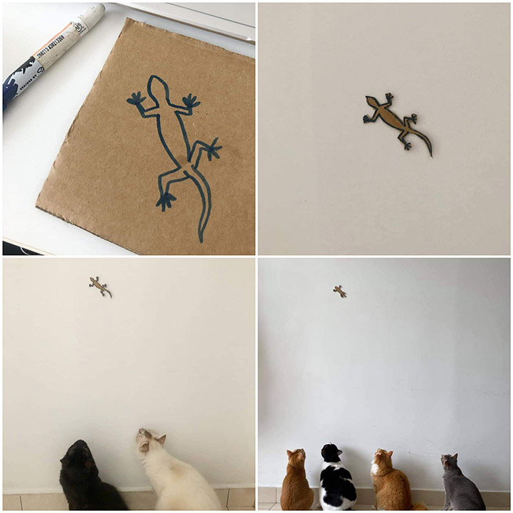 art gallery for cats