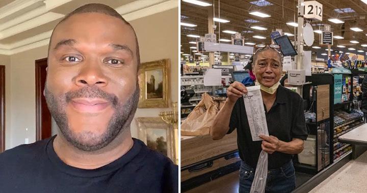Tyler perry pays groceries Atlanta