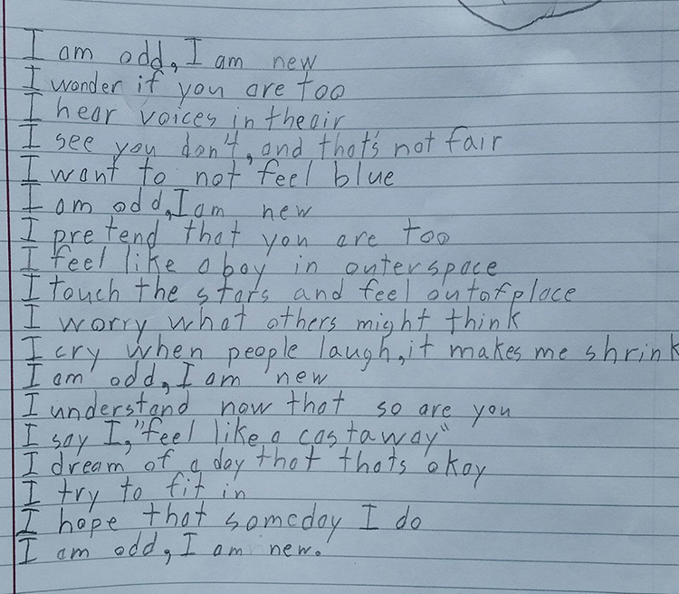 boy autism poem