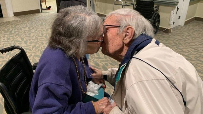couple married 70 years reunited nursing home