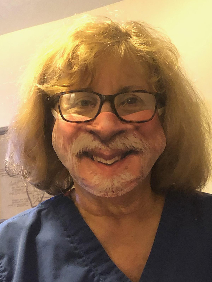 husband buys wife a new mask of himself