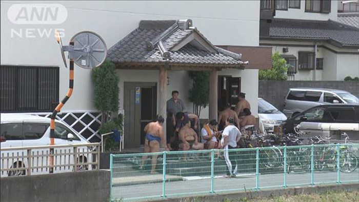 sumo wrestlers save woman drowning