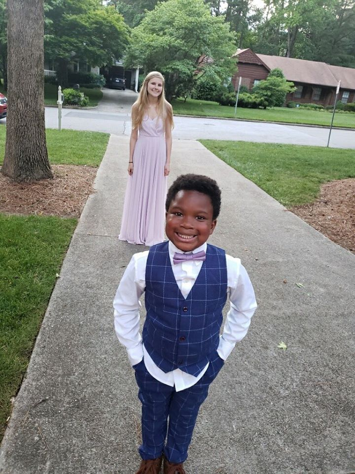 boy hosts prom for nanny
