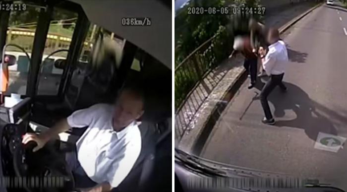 bus driver hungary saves woman robbery