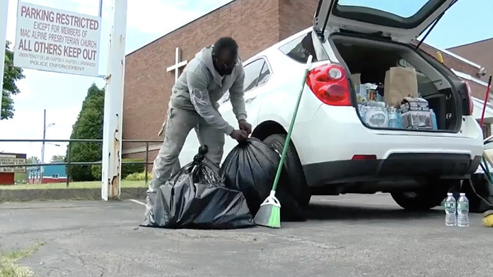 teen cleans protest gets scholarship and car