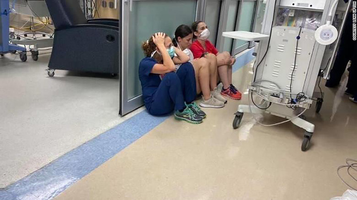 nurses stay behind louisiana hurricane