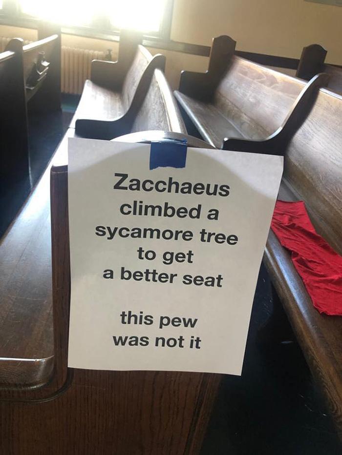 social distancing church signs