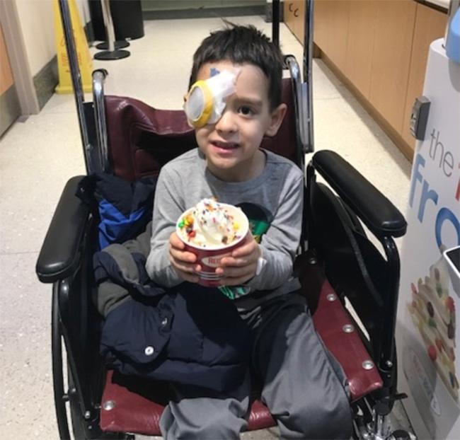 gene therapy restores eye sight blind boy Sam