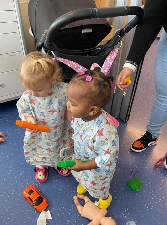 little girls with cancer become friends