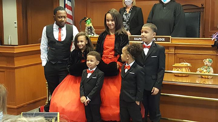 dad adopts 5 siblings to keep together