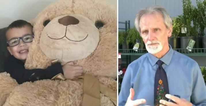 man buys giant teddy bear for kid
