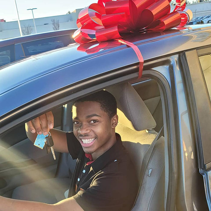 teen surprised with car