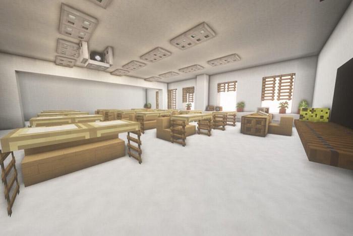 minecraft school replica