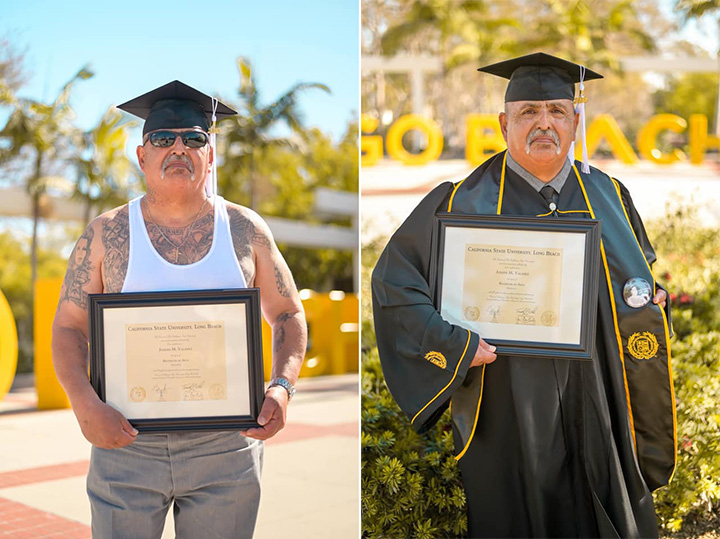 man in prison half his life graduates college