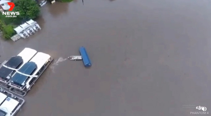 boat saves house boats from shipping container