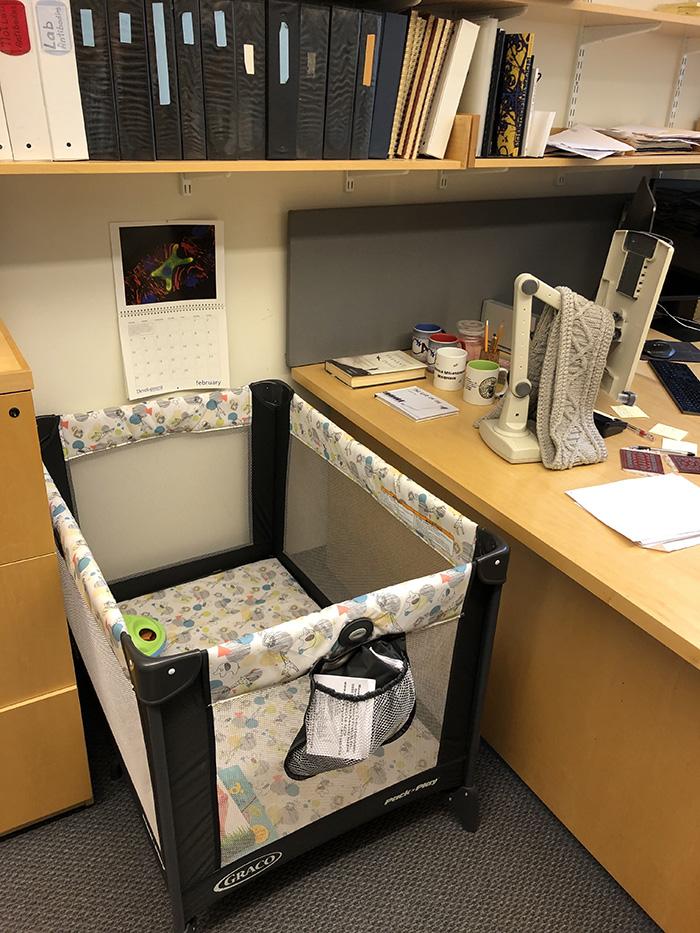 professor buys crib for student