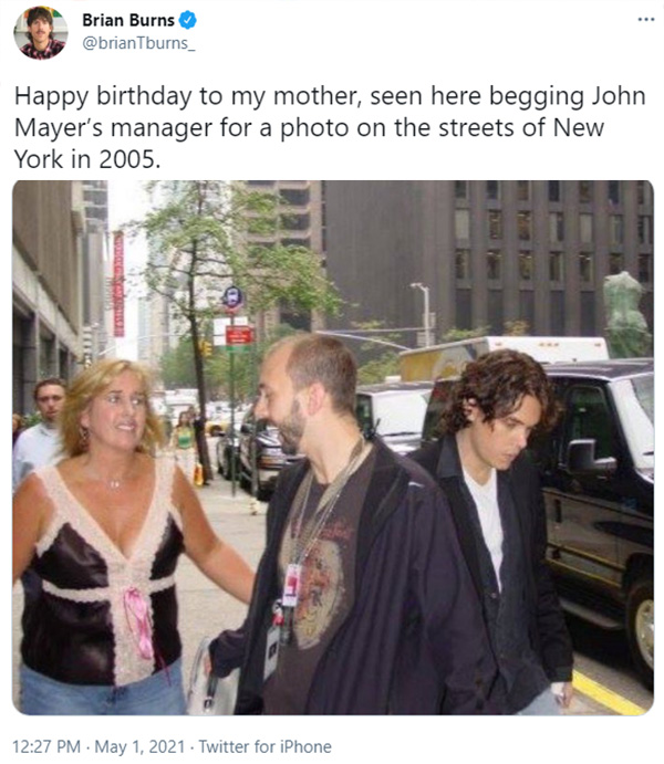 john mayer writes song for mom he ignored 16 years ago