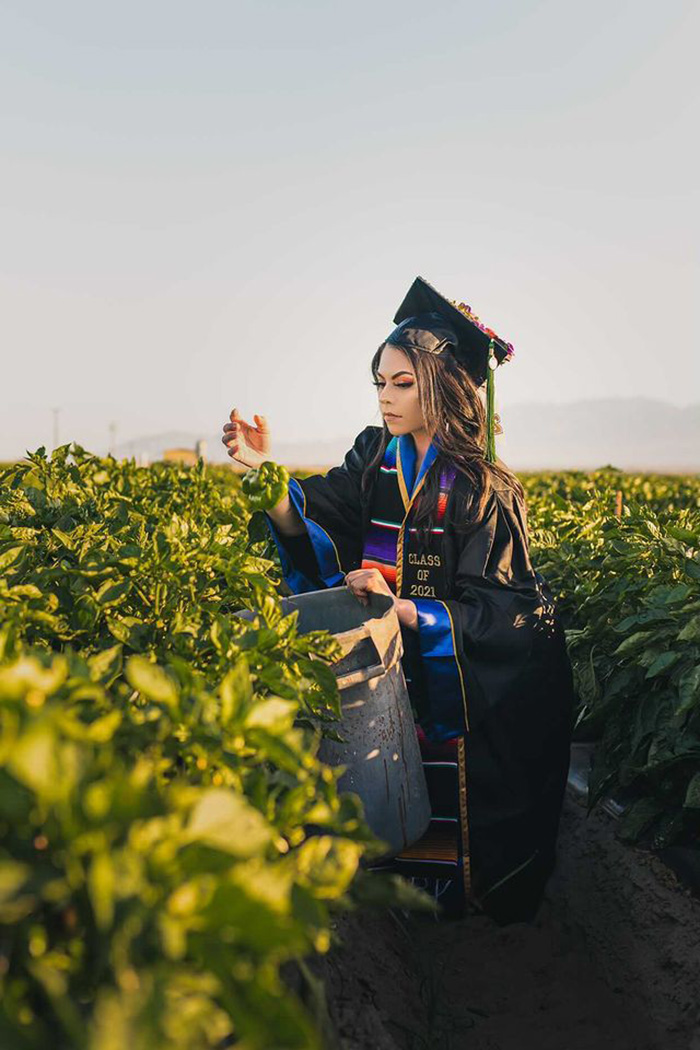 UC San Diego college grad thanks parents farm life