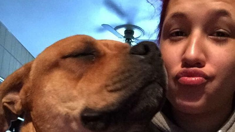 woman reunited with missing dog 2 years