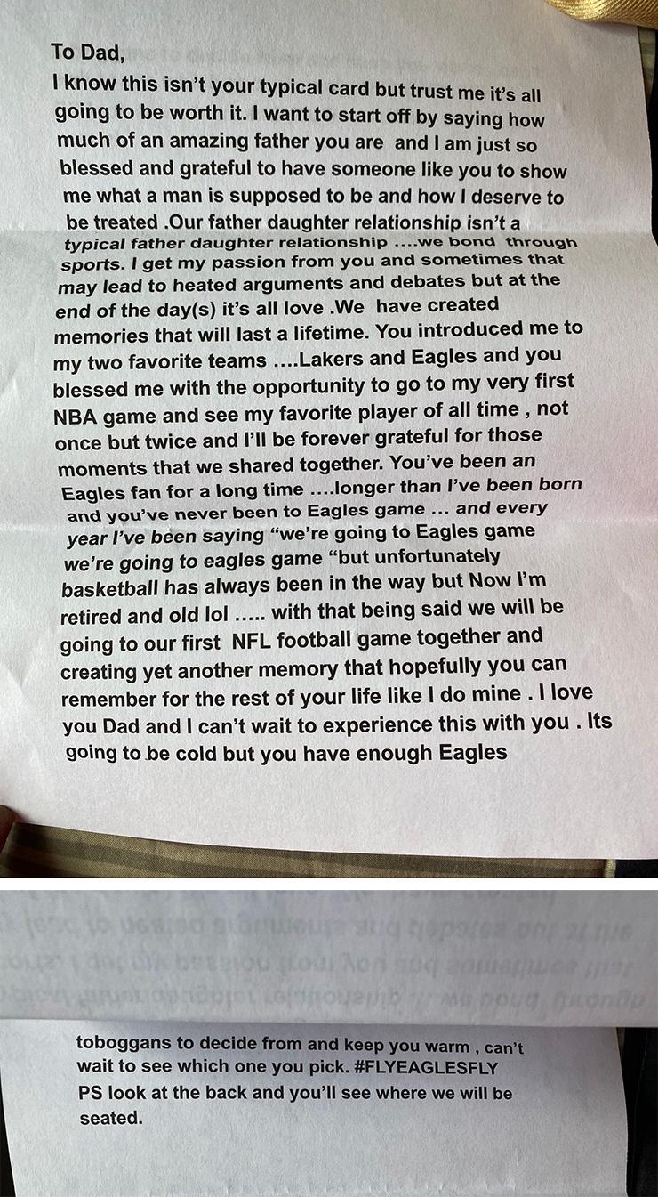 lifelong eagles fan first game