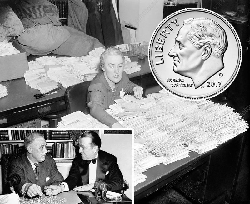 why is FDR on dime