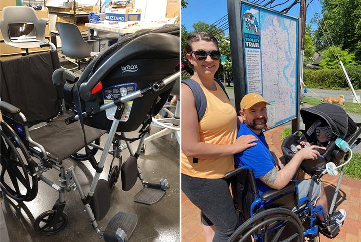 wheelchair stroller