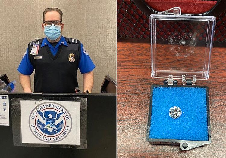 TSA find lost diamond