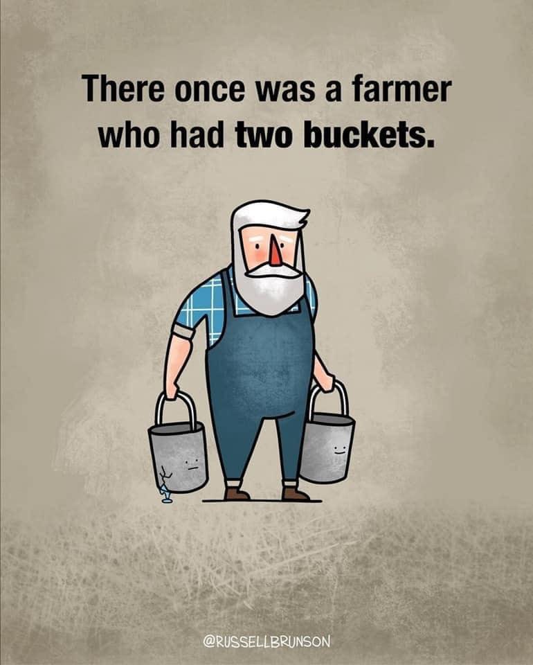 farmer buckets story