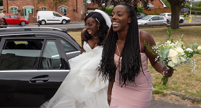 couple saves hitchhiking bride