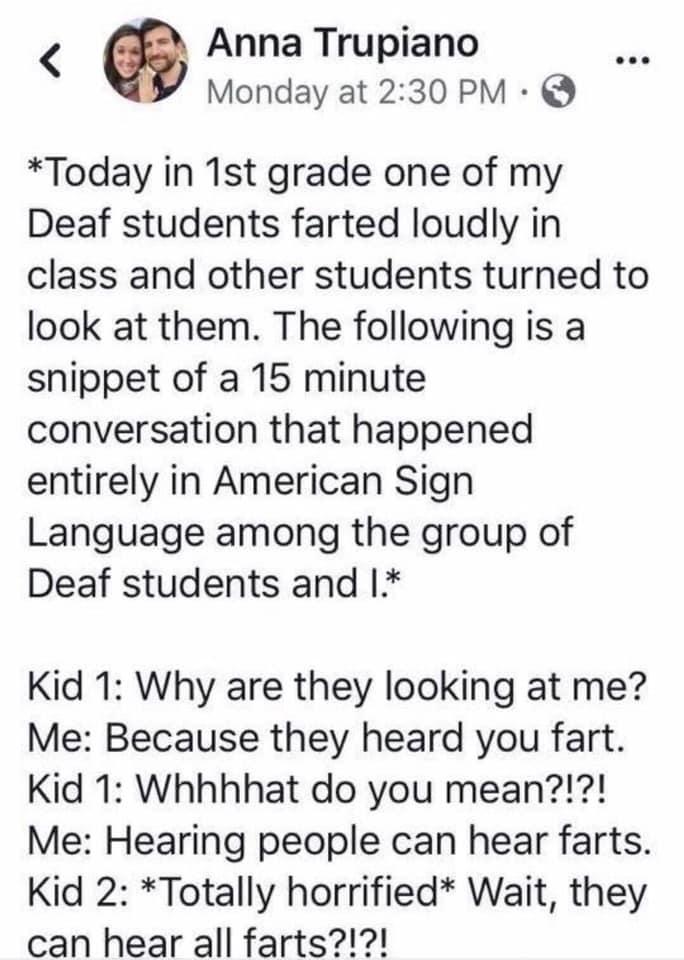 fart deaf kid