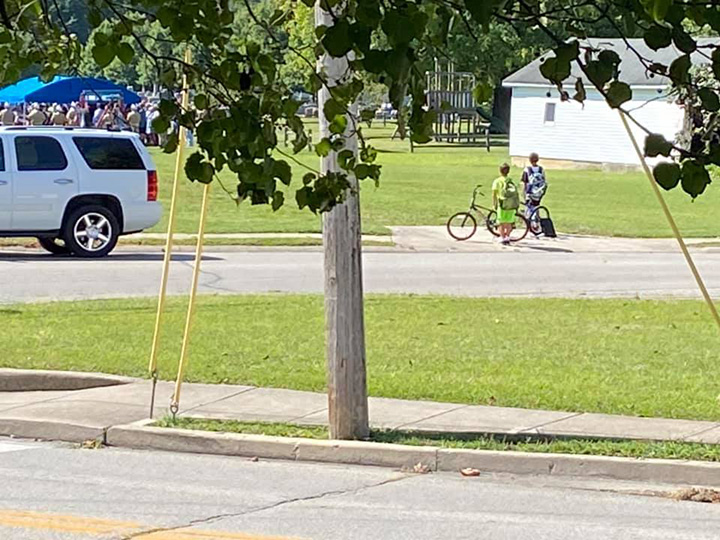 boys on bikes honor veteran funeral