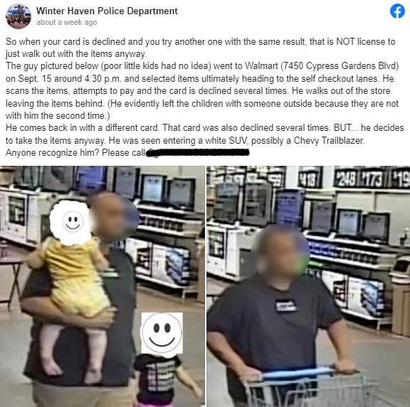 people help man stealing diapers
