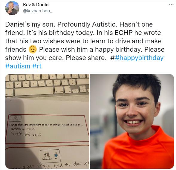 autism birthday twitter